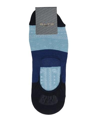 Alto Socks Alto Socks  Colorblocked Erkek Çorap 101643928 Mavi